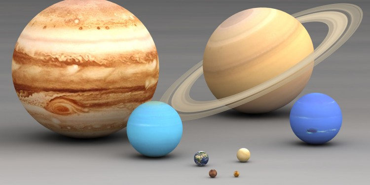The planets size comparison