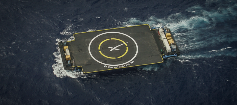 SpaceX lands a rocket on a moving barge