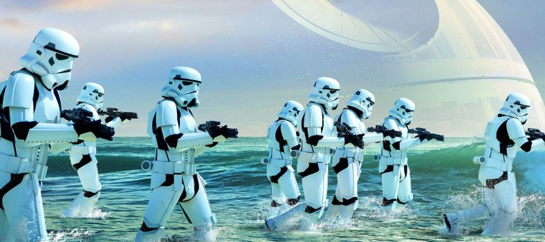 Rogue one poster, beach, stormtroopers